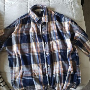 OLD NAVY blue plaid shirt